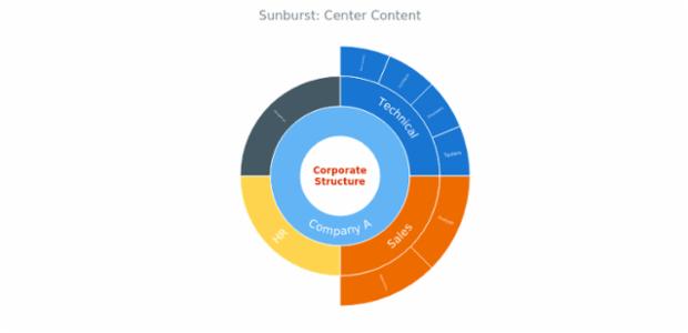 BCT Sunburst Chart 14 created by AnyChart Team