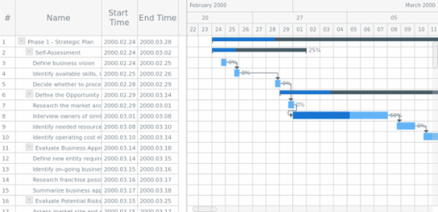 Large Gantt chart print created by anonymous, A sample of using Gantt chart printing module