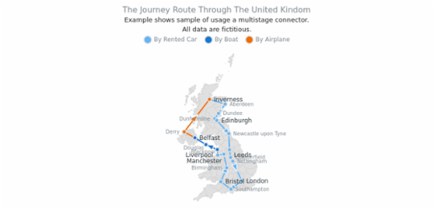 Trip Route in UK created by AnyChart Team