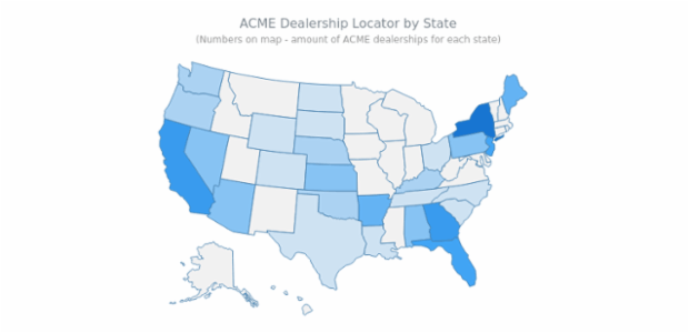 Dealership Locator created by AnyChart Team