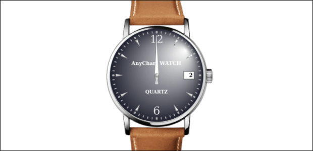 Analog Watch created by AnyChart Team