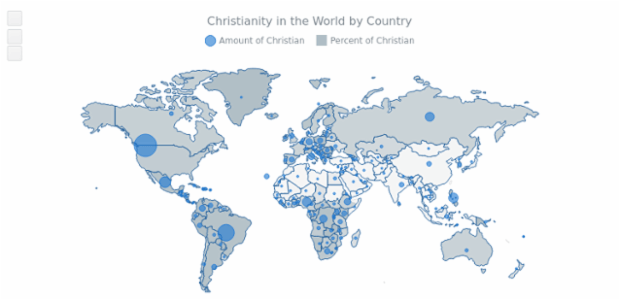 Bubble Christian Map created by AnyChart Team
