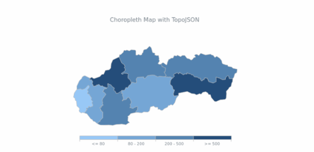 Choropleth Map with TopoJSON created by AnyChart Team