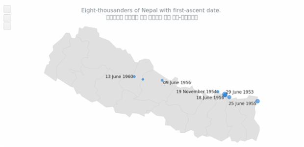 Map with Nepal Localization created by AnyChart Team