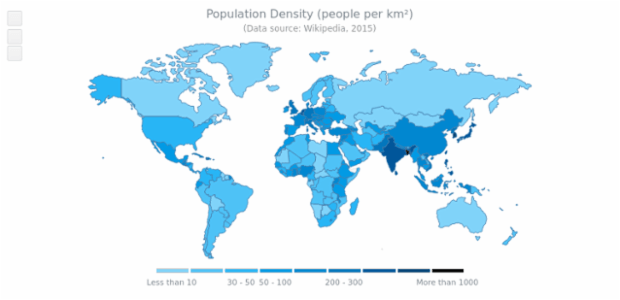 World Choropleth Map created by AnyChart Team