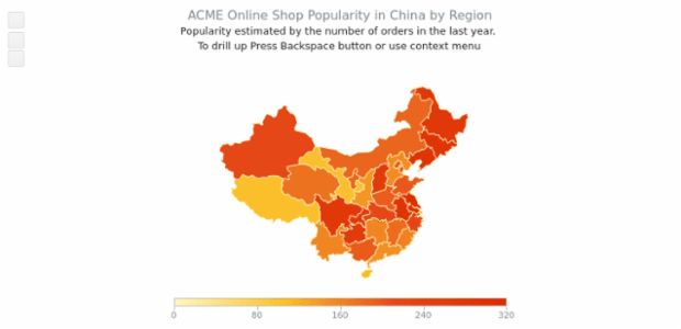 ACME sales in China Regions created by AnyChart Team