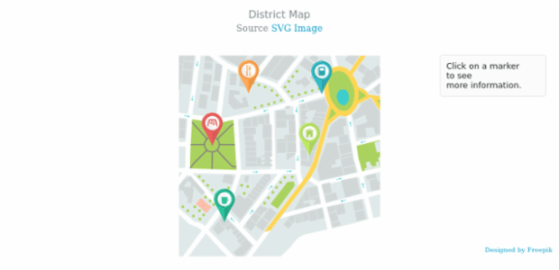 District Map created by AnyChart Team