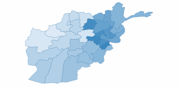 Afghanistan created by AnyChart Team