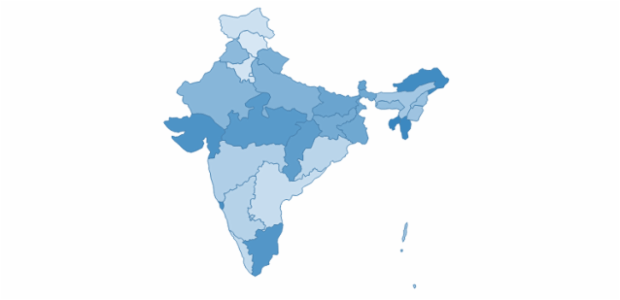 India created by AnyChart Team