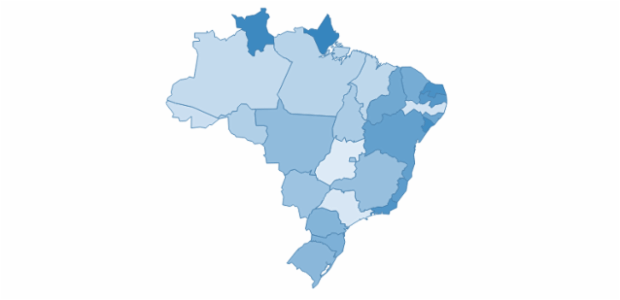Brazil created by AnyChart Team