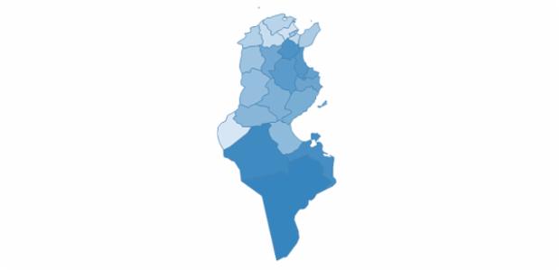 Tunisia created by AnyChart Team