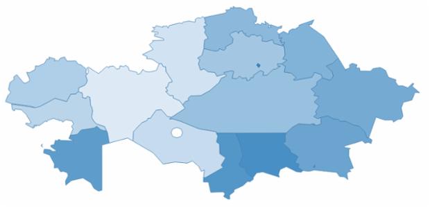kazakhstan created by AnyChart Team