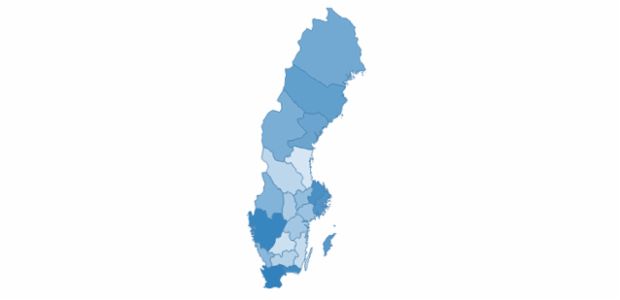 sweden created by AnyChart Team