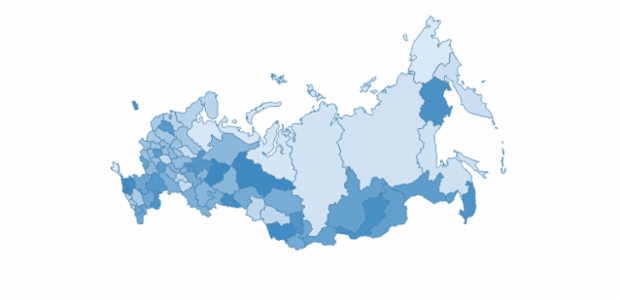russia created by AnyChart Team