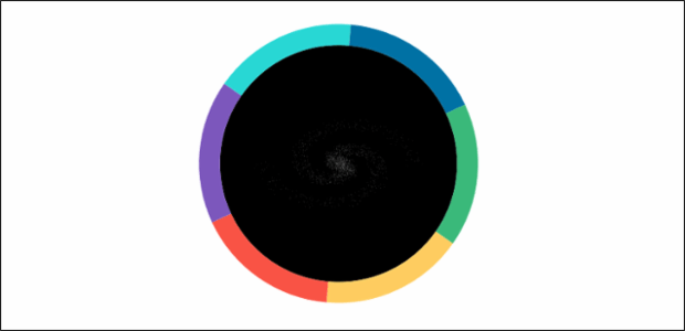 Pie Chart with Animated Galaxy created by anonymous, AnyChart - JavaScript Charts designed to be embedded and integrated